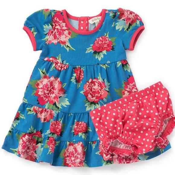 76697d5acb6 Matilda Jane Pretty Peony blue floral dress 6 12